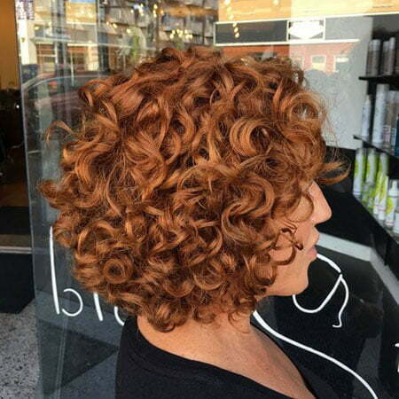 Short Curly Copper Hair