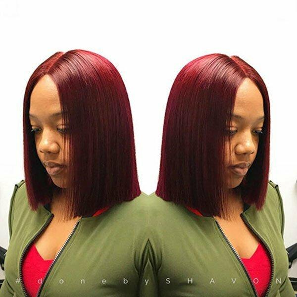 Straight Bob Haircut For Black Women
