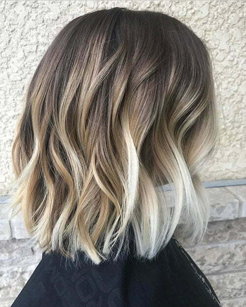 Short Caramel Ombre Hair