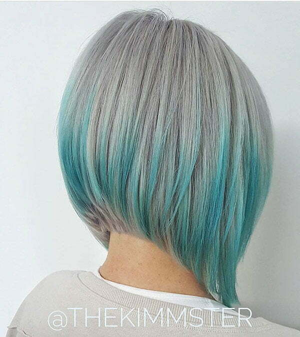 Light Blue Bob Hair