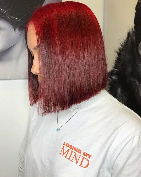 Red Bob For Black Women