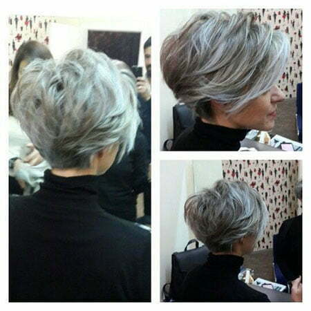 Long Pixie Hairstyle for Over 50