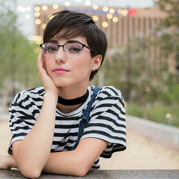 Pixie Cut With Glasses