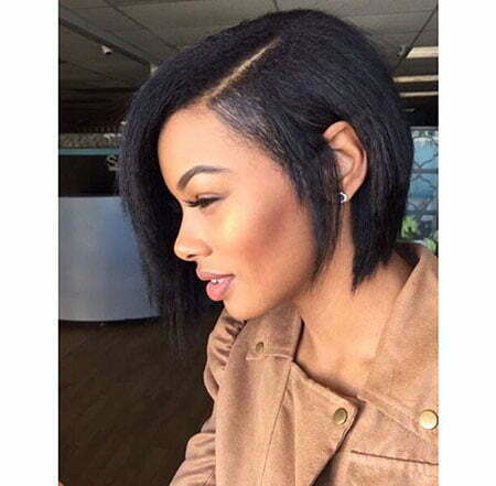 Bobs On Relaxed Hair