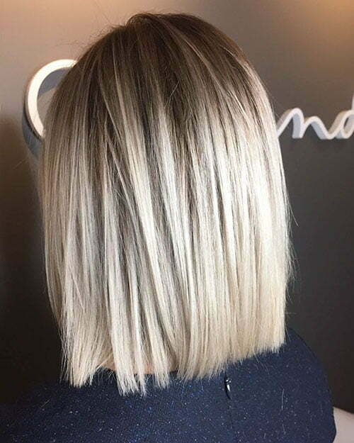 Short Straight Blonde Hairstyle 2018
