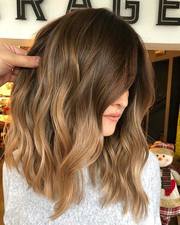 Short Wavy Brown Hair