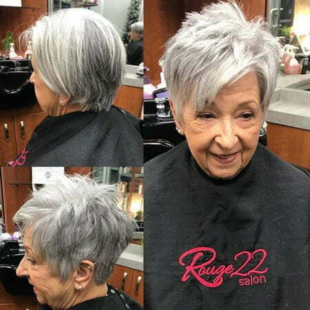 Grey Short Choppy Hairstyles