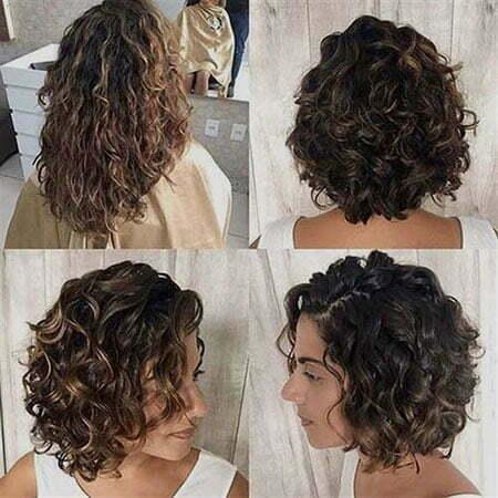 Short Curly Brunette Hair