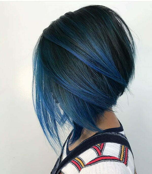 Bob Hairstyles With Blue Highlights