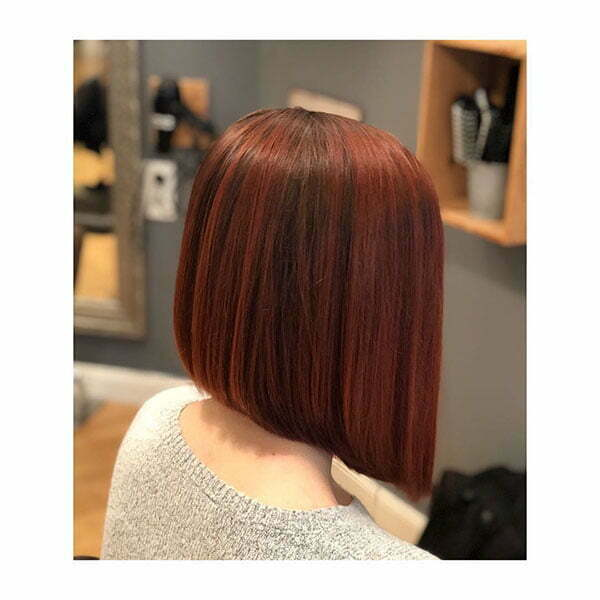 Red Straight Bob Hair