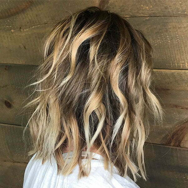Short Wavy Dark Blonde Hair
