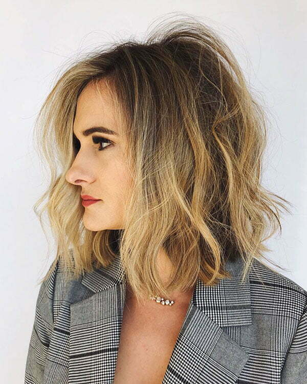 Messy Blonde Short Hairstyles