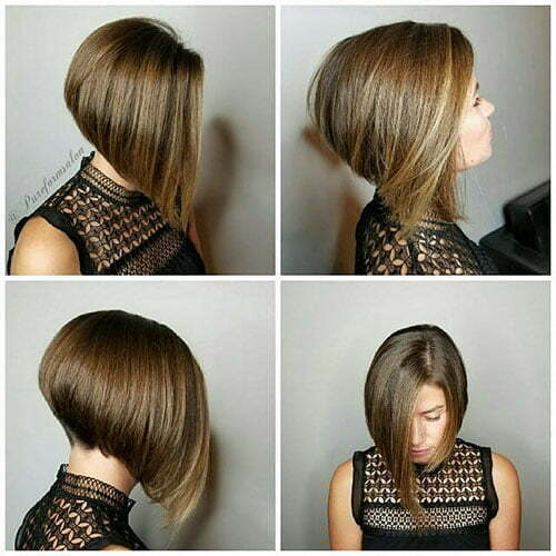 Short Inverted Bob Haircut 2018