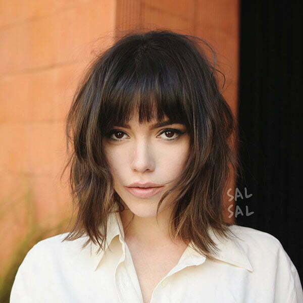 Medium Short Hair With Bangs