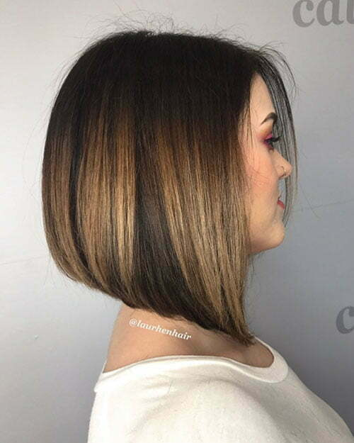 Short Dark Bob Hairstyle 2018