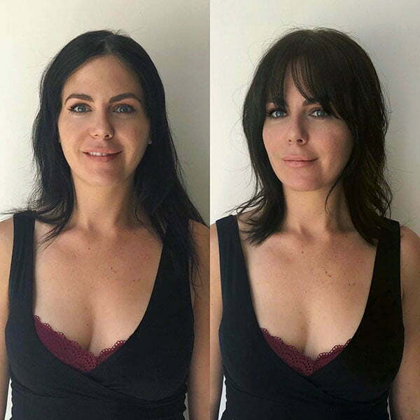Short Hair With Bangs For Round Face