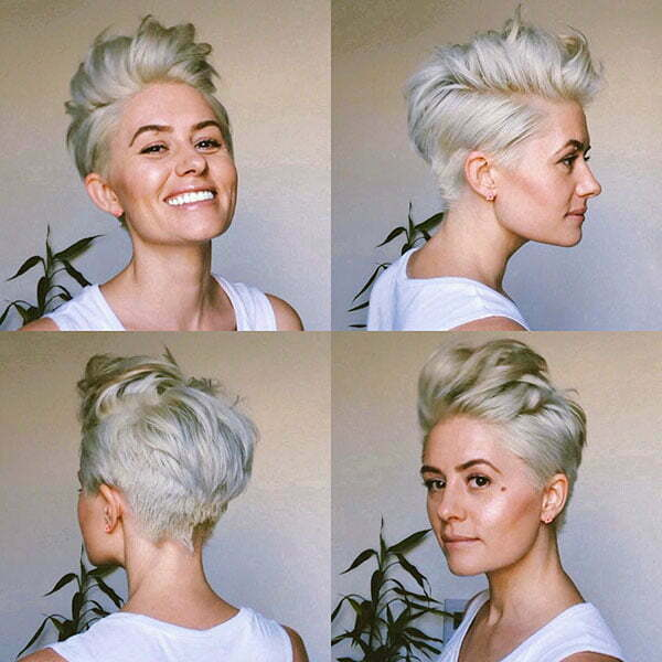 Blonde Pixie Cut 2019