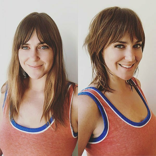 Short Hairstyles With Bangs For Square Faces
