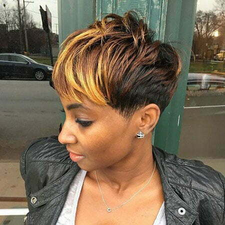 Black Woman Short Pixie Cuts