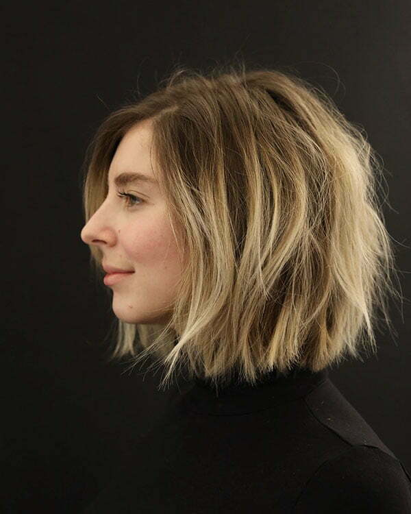 Cute Textured Bob Haircuts