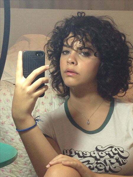 Natural Layered Curly Hair