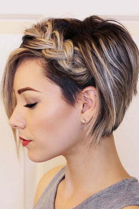 Cute Short Braid Style