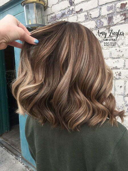 Lowlight Balayage for Short Bob