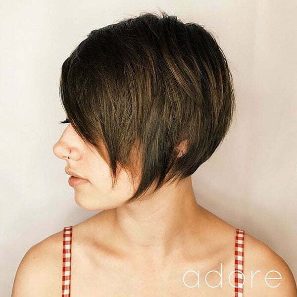 Long Layered Pixie Cut With Bangs