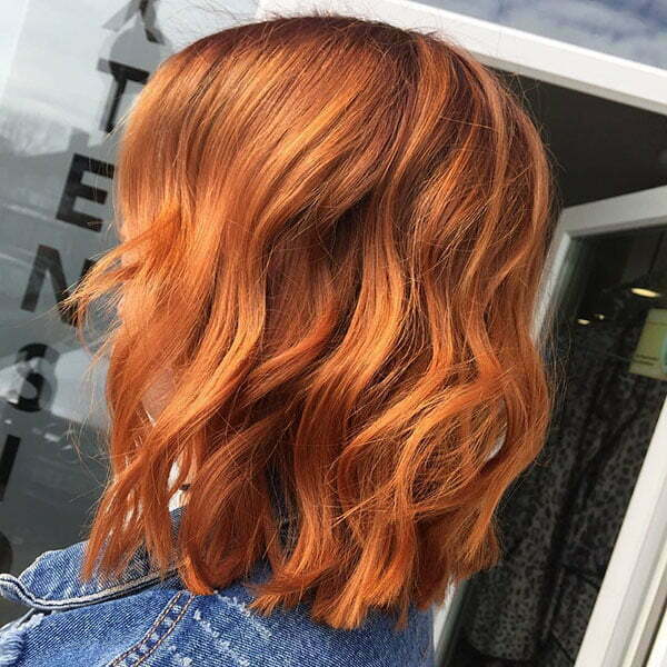 Short Wavy Red Hairstyle