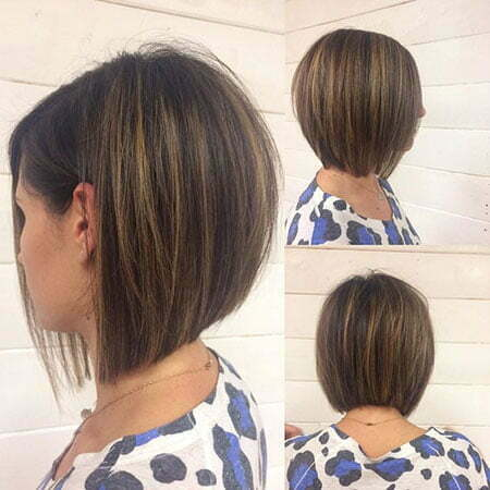 Short Brunette Bob Hairstyle