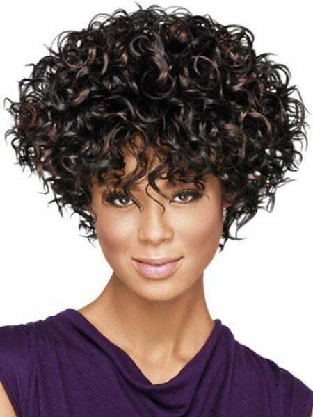 Short Curly Hair Bangs