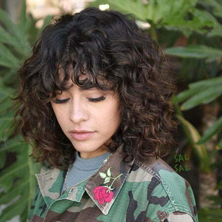 Short Curly Hair With Bangs And Layers 13
