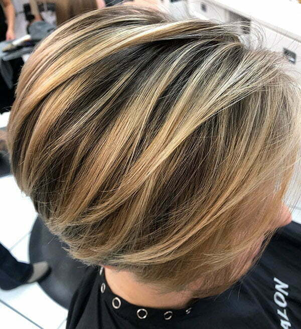 Blonde Highlighted Short Hair