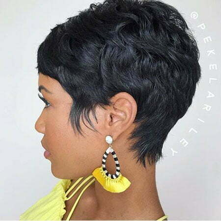 Black Pixie Haircut