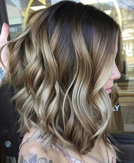 Blonde Balayage Medium Length Hair