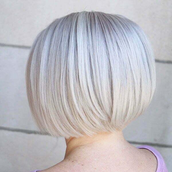 Platinum Blonde Short Bob