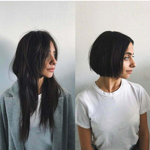 Short Straight Hair For Round Face