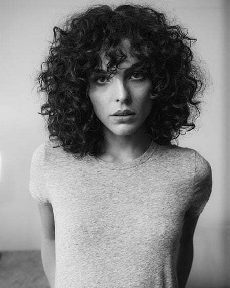 Curly Hair Styles with Bangs