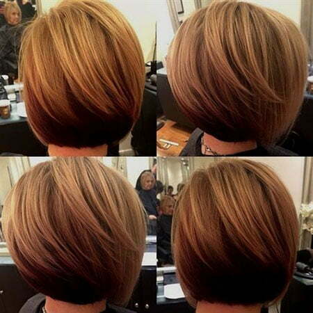 Slightly Stacked Bob Haircut