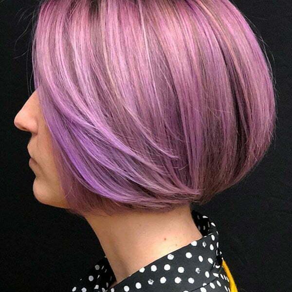 Lavender Bob Hair