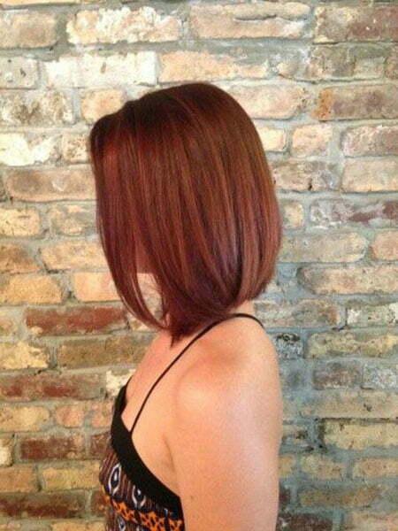 Burgundy Bob Hair
