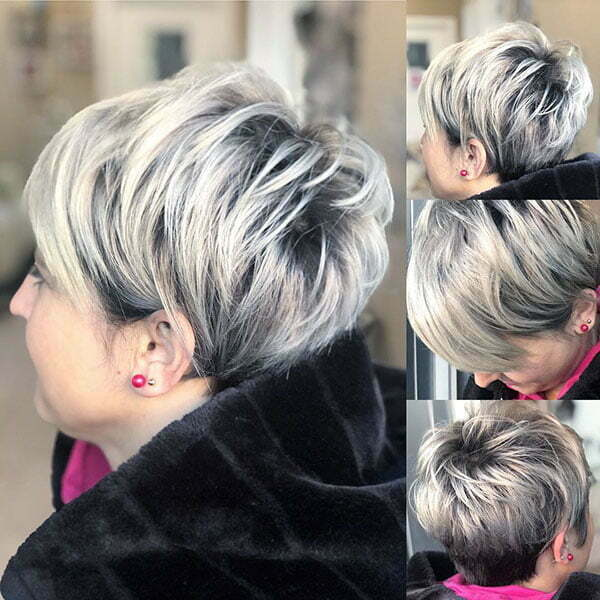 Silver Hair Pixie Cut