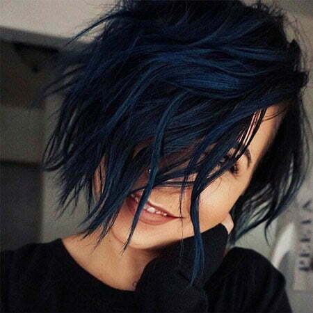 Short Blue Black Hair