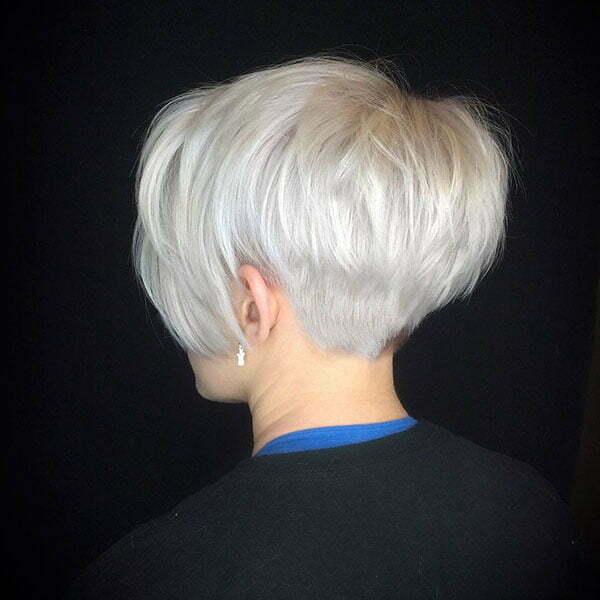 Bleach Blonde Pixie Cut