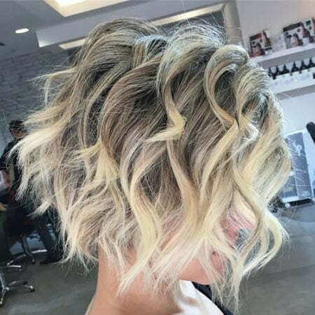 Short Curly Shaggy Bob Hairstyle
