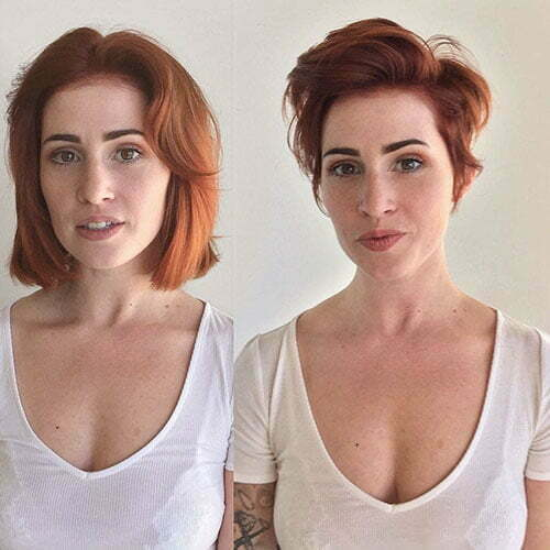 Red Pixie Haircut 2018