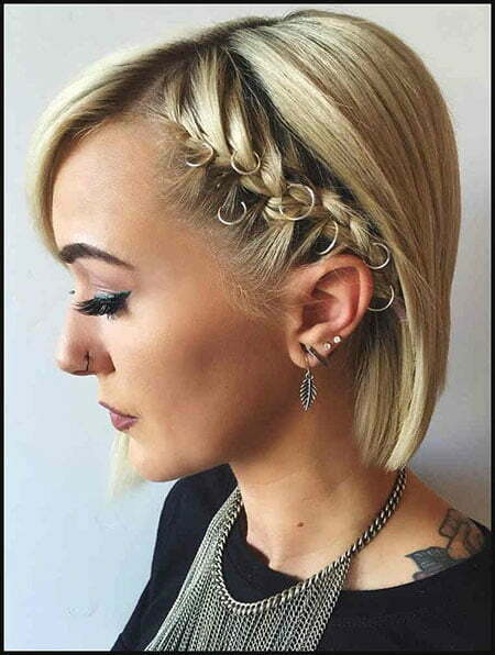 Prom Hairstyles for Short Hair with Braids