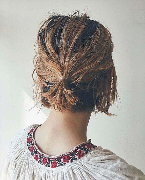 Short Hair Bun Styles