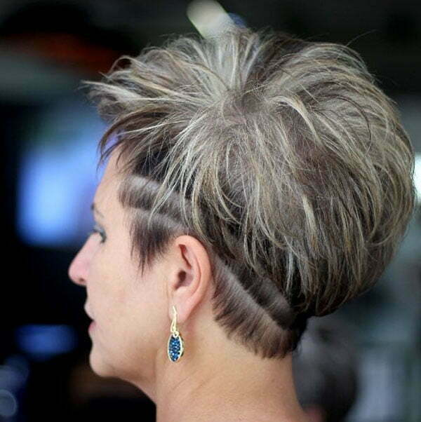 Short Spiky Haircuts For Older Women