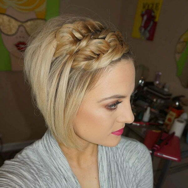 Pretty Braids For Short Hair